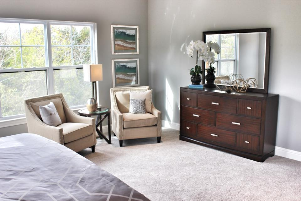 Eureka Stonewall Custom Home Bedroom