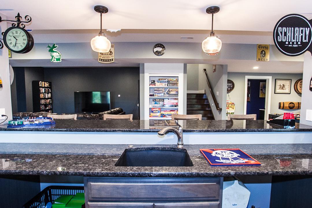 Bar Basement Ballwin MO Custom Home Builder St Louis