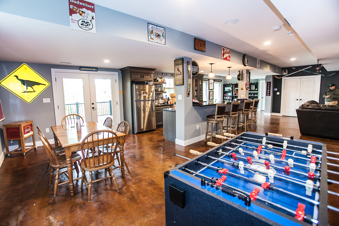Game Room Ballwin MO Custom Home Builder Basement
