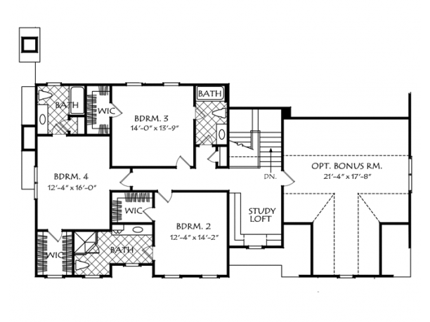 Gilbert 2 Story Floor Plan Level 2