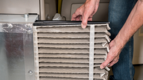 Change Air Filter - Energy Efficient HVAC St Louis Green Home Builder