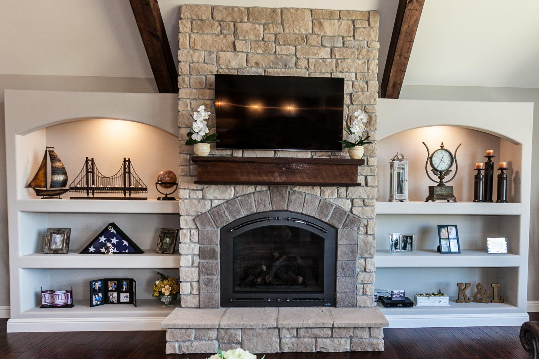 Eureka Custom Home Fireplace