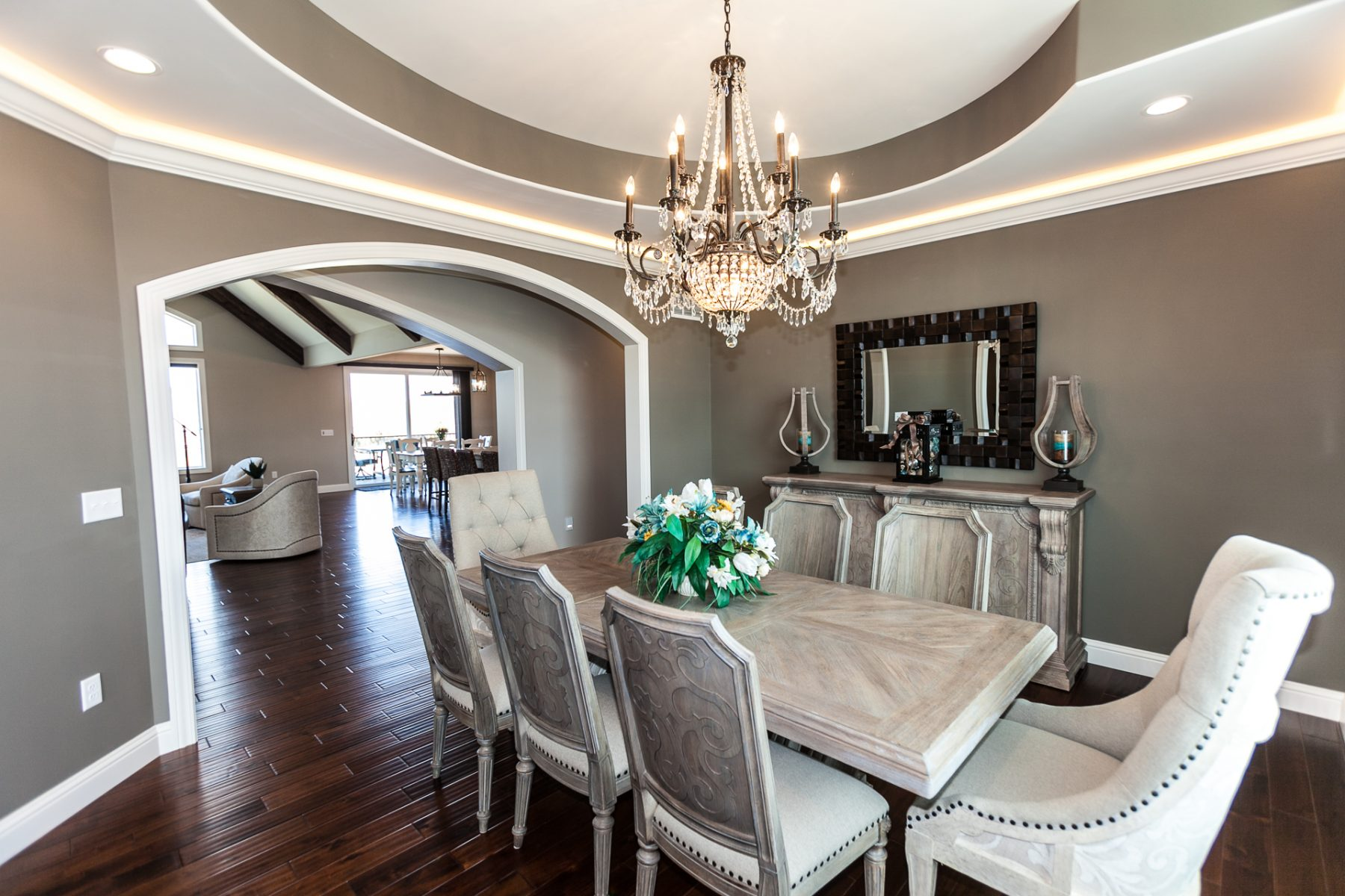 Elegant Dining Room Luxury Home Builder Eureka Missouri St Louis County Custom Home Builder