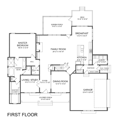 Branch Modern Farmhouse Home Design First Floor