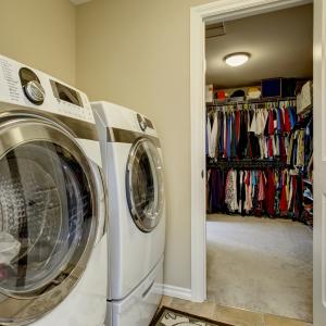 Laundry Room in Closet