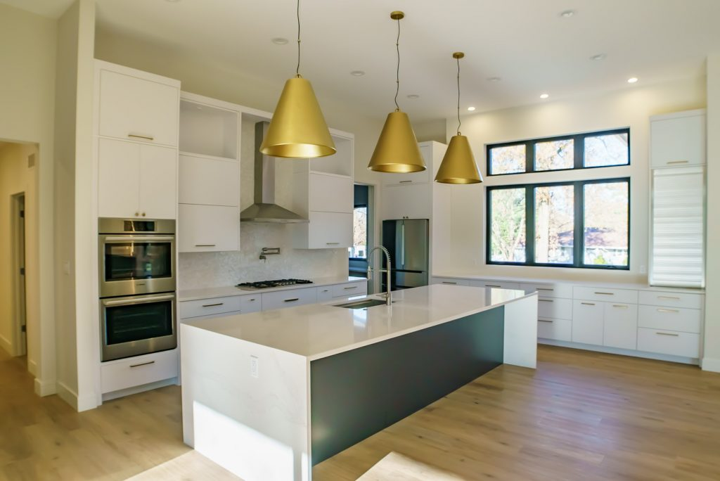 Modern Custom Kitchen Built by Hibbs Homes
