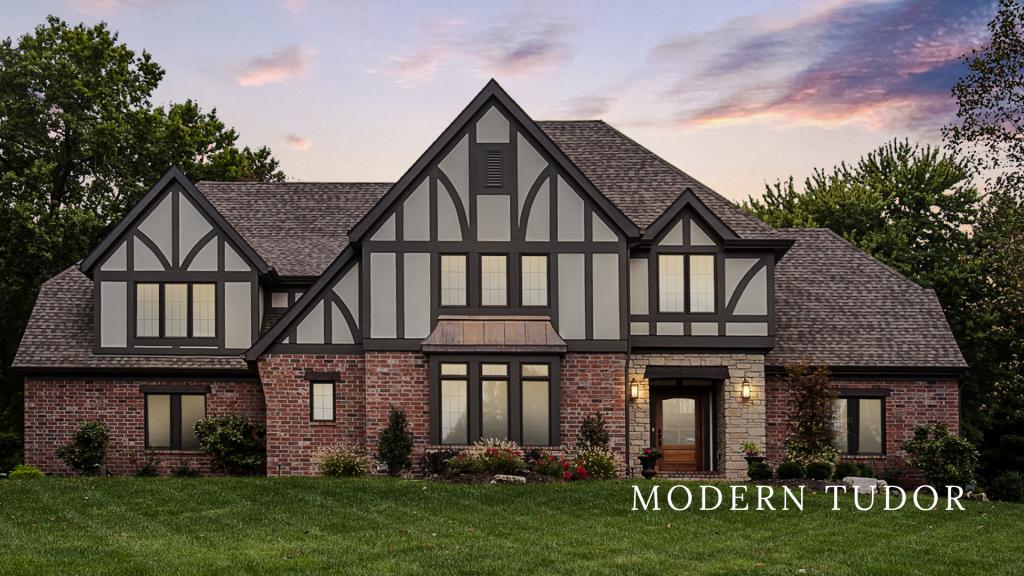 Modern Tudor Custom Home Built by Hibbs Homes