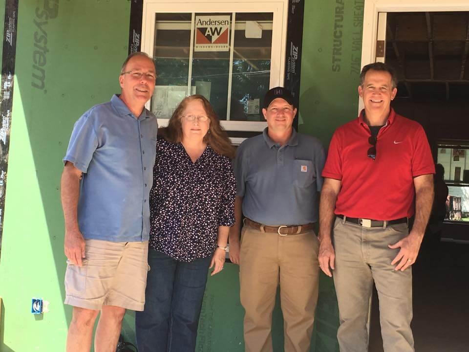Mark & Gayle Friz with Chris Pedigo & Kim Hibbs of Hibbs Homes
